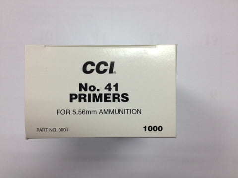 CCI #41 Small Rifle Primers (Military)