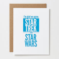 Star Trek Over Star Wars Card