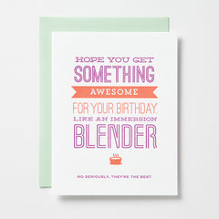Immersion Blender For Your Birthday Card