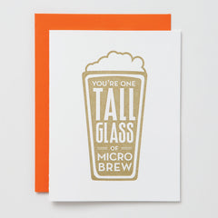 Tall Glass of Micro Brew Card