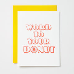 Word To Your Donut Card