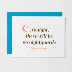 Tonight No Nightguards Card