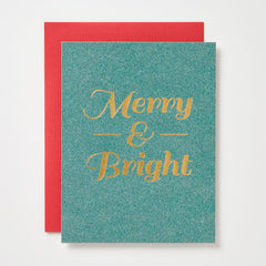 Merry And Bright Sparkle Card