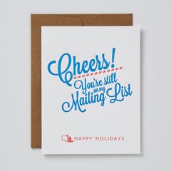 Cheers! Mailing List Card