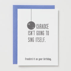 Karaoke Birthday Card
