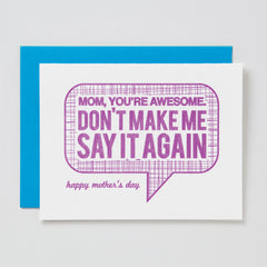 Mom Awesome Card