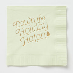 Down The Holiday Hatch Napkins