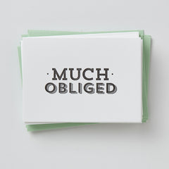 Much Obliged Card