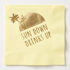Sun Down Drinks Up Napkins