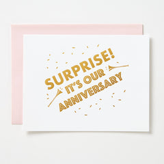 Surprise It's Our Anniversary Card