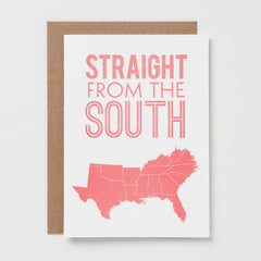 Straight From the South Card