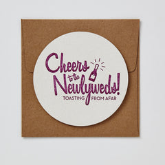Cheers To The Newlyweds Coaster Card