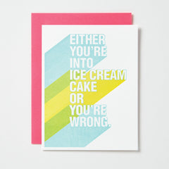 Into Ice Cream Cake Card