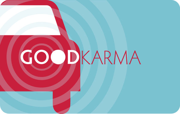 Good Car Karma Greeting Card