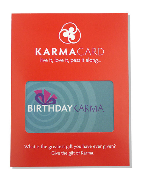Good Birthday Karma Greeting Card