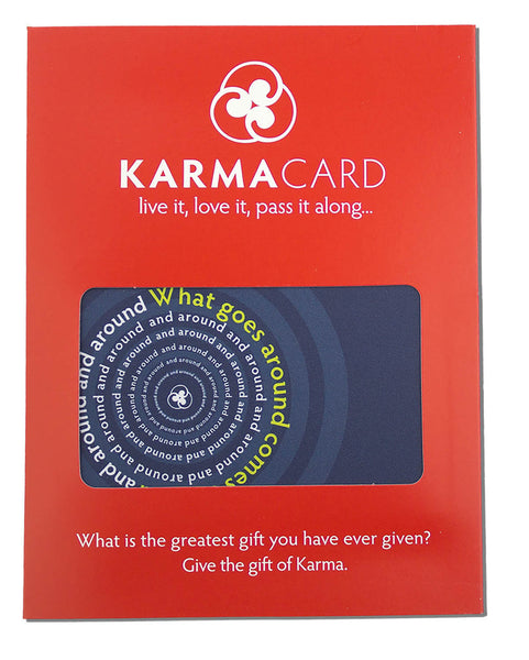 What Goes Around Karma Greeting Card Blue