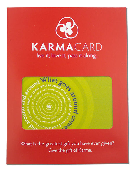 What Goes Around Karma Greeting Card Yellow Green
