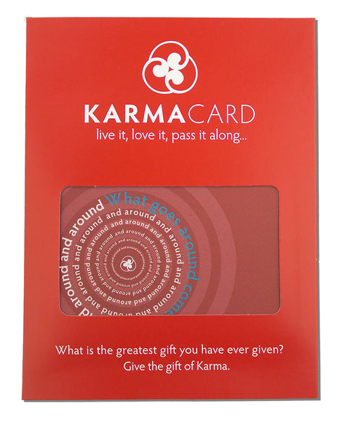 What Goes Around Karma Greeting Card Red