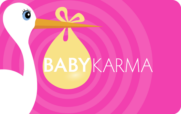 Karma Card Greeting Card Baby Karma Girl