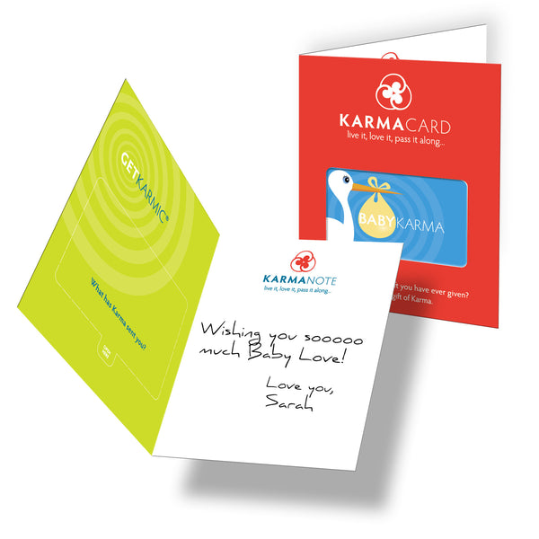 Karma Card Greeting Card Baby Karma Boy