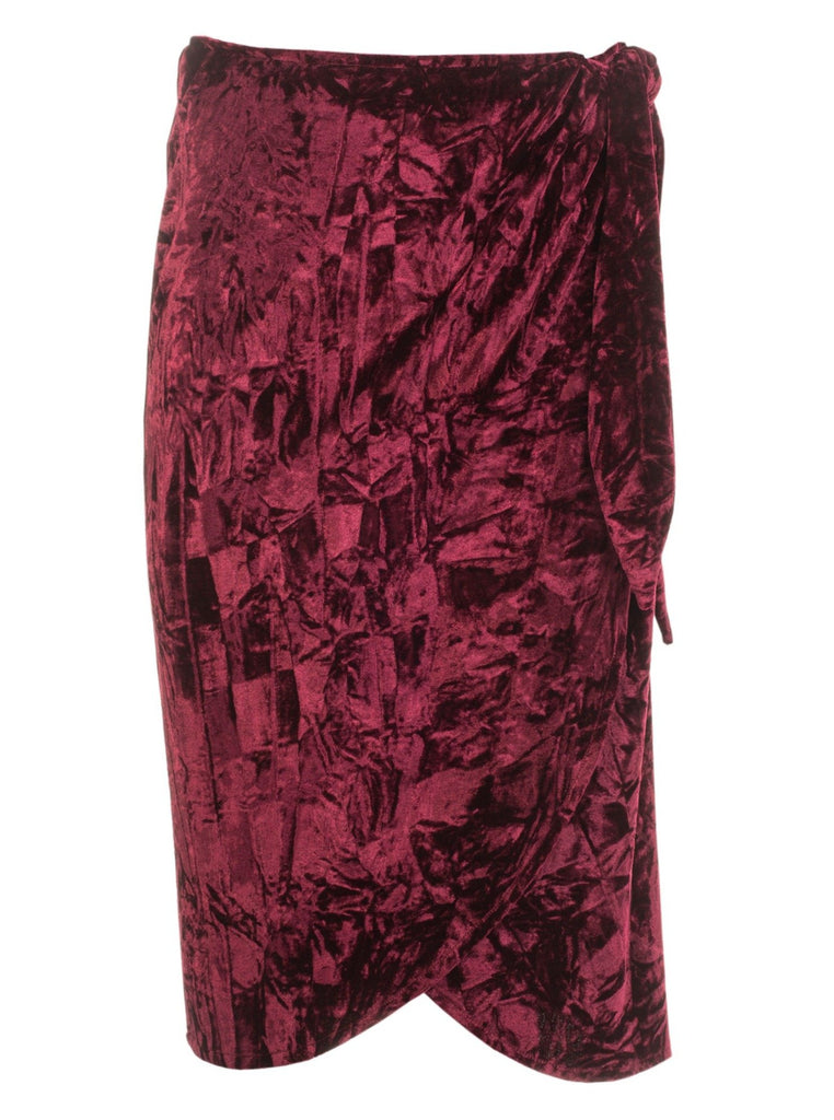 ISABELLA WRAP SKIRT - BURGUNDY