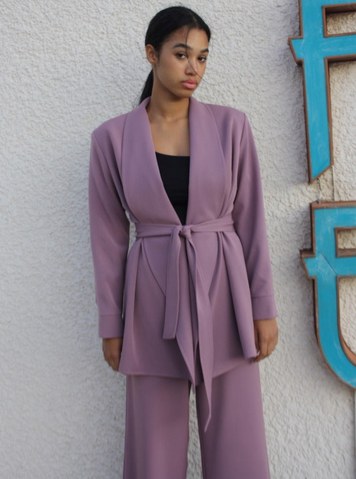 THE CONFIDENCE SUIT - BLAZER IN DUSTY PINK