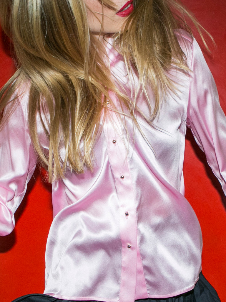 """THE PERFECT"" SILK SHIRT - PINK"
