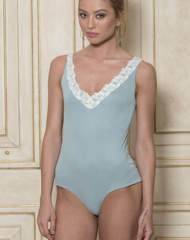 TOO SOON - MODAL BODYSUIT IN BLUE