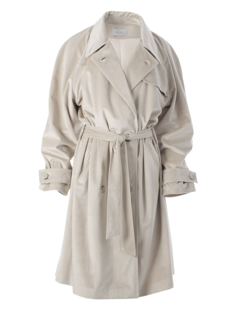 GRACE VELVET COAT - CREAM