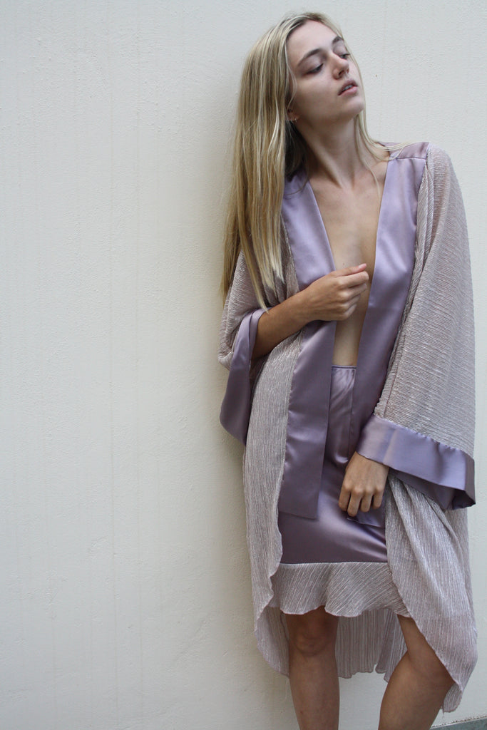 roses-are-red - LILLE ΚΙΜΟΝΟ SILK & METALLIC PINK - KIMONO