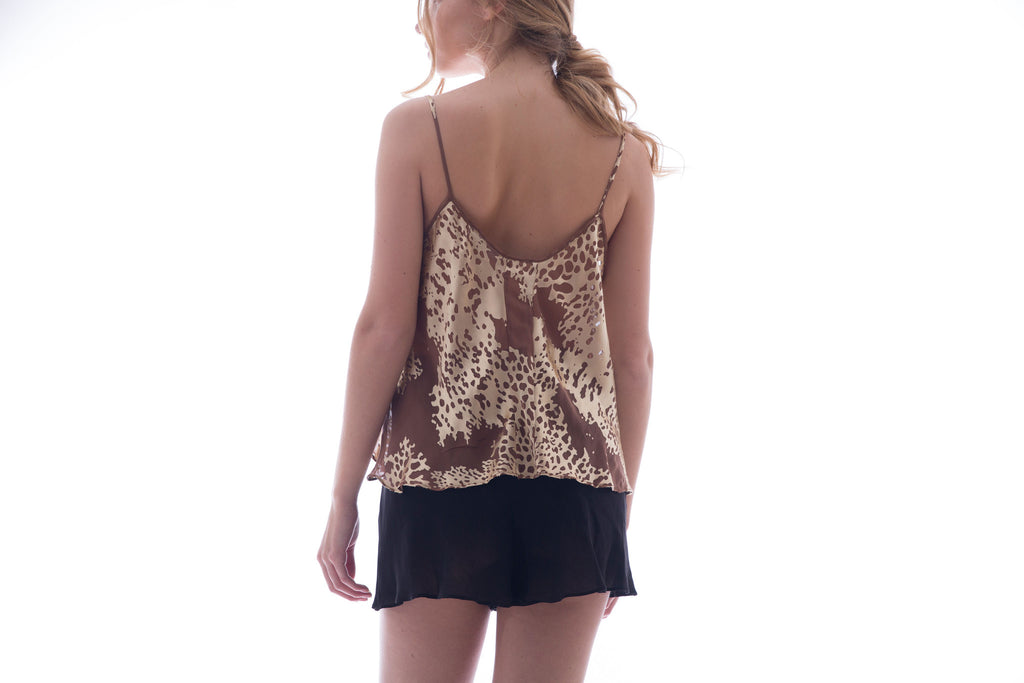 roses-are-red - FORGET ME NOT (TOP IN GOLD - 100% SILK) - TOP