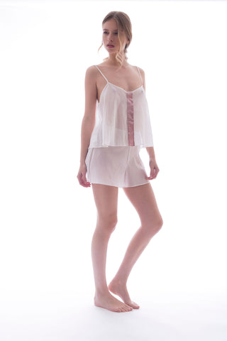 SILK SHORTS - WHITE