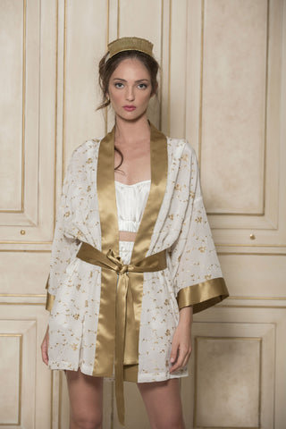 SONATA FOR THE DAWN - SILK KIMONO IN IVORY