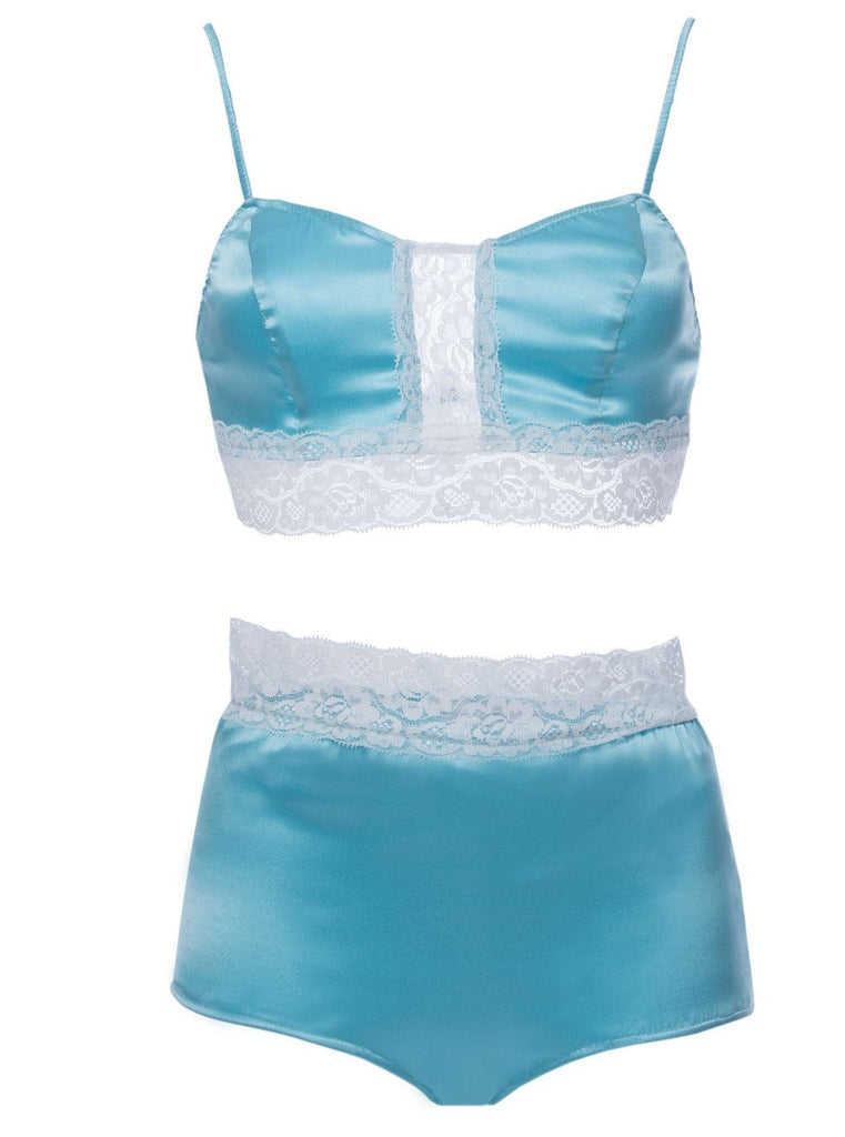 roses-are-red - CHOPIN MADE ME DO IT - SILK LINGERIE SET IN BLUE - LINGERIE