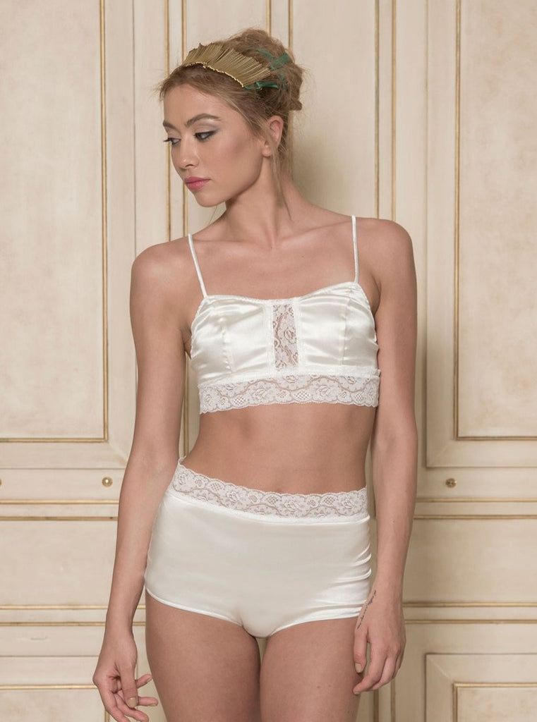 roses-are-red - CHOPIN MADE ME DO IT - SILK LINGERIE SET IN IVORY - LINGERIE