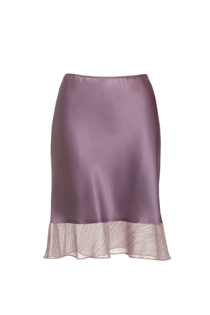 roses-are-red - ESTELLE SILK SKIRT - PURPLE - SKIRT