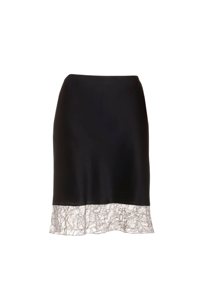 roses-are-red - ESTELLE SILK SKIRT - BLACK & WHITE - SKIRT