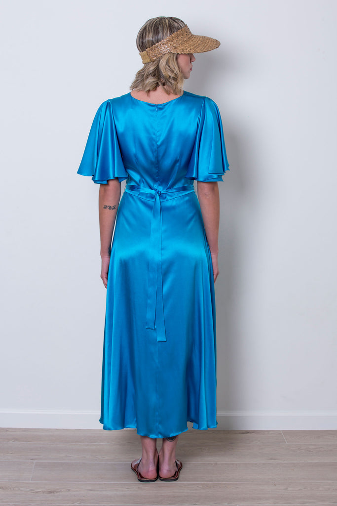 roses-are-red - DENISE SILK DRESS - BLUE - DRESS