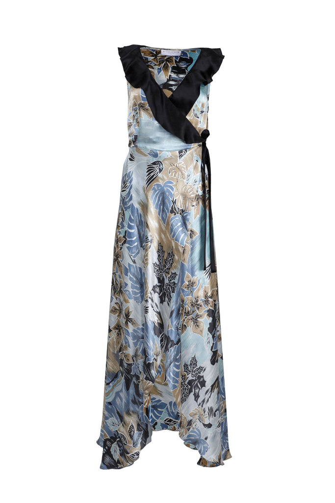 roses-are-red - DORIS SILK DRESS - FLORAL BLUE - DRESS
