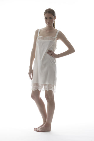 MIA - SILK DRESS IN IVORY
