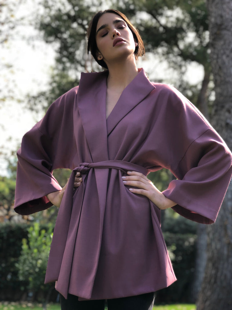 roses-are-red - WOOL COAT - PURPLE PINK - COAT
