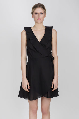 RENEE COTTON DRESS - BLACK