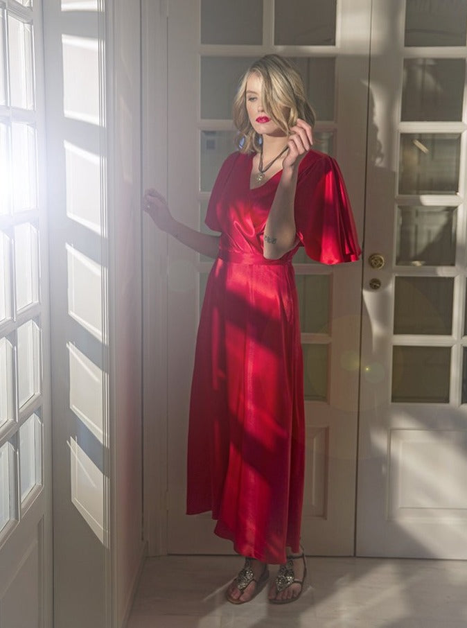 roses-are-red - DENISE SILK DRESS - RED - DRESS