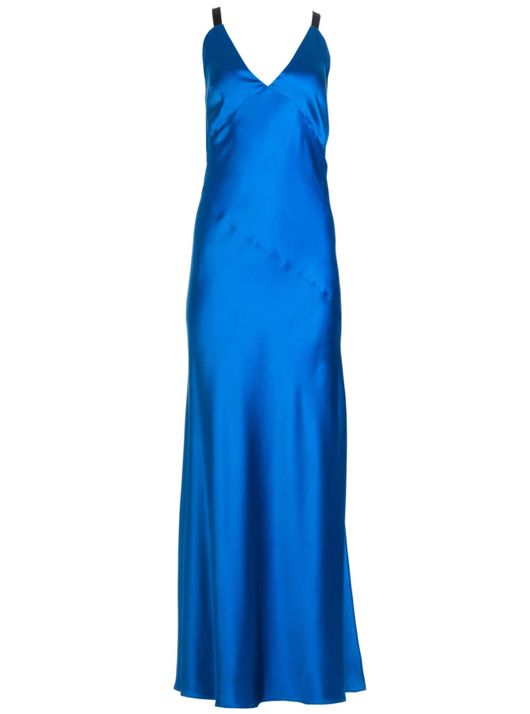 JOI SILK DRESS - ROYAL BLUE