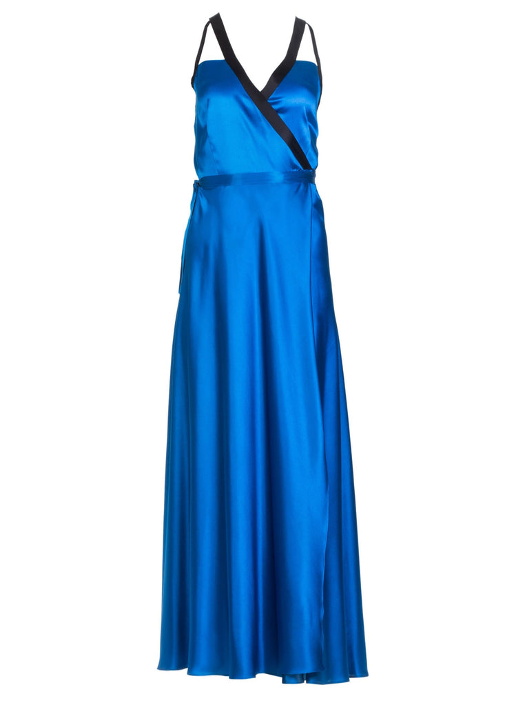 DORY SILK DRESS - ROYAL BLUE