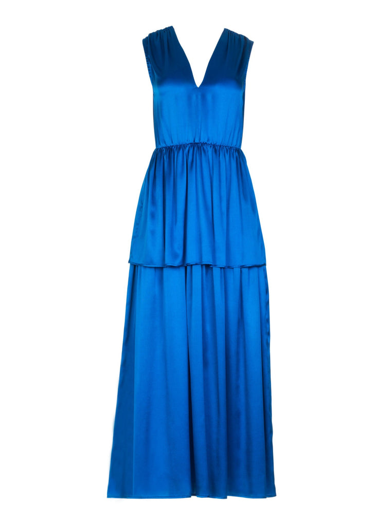 ELLA SILK DRESS - ROYAL BLUE