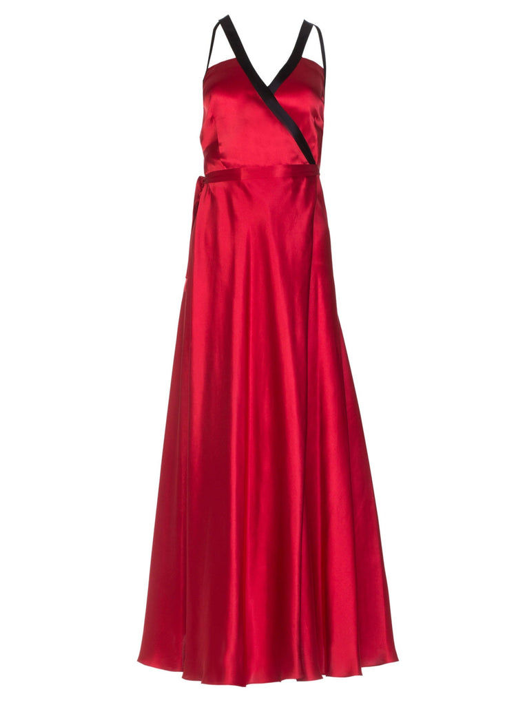 DORY SILK DRESS - RED