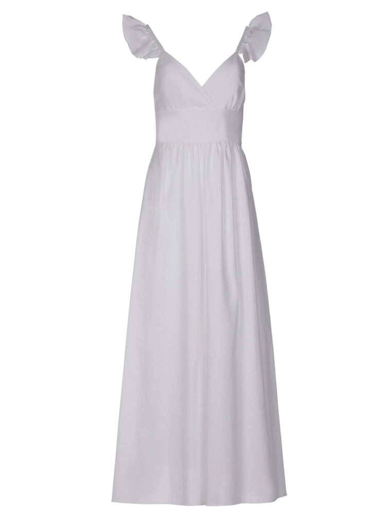 CHLOE COTTON DRESS - WHITE