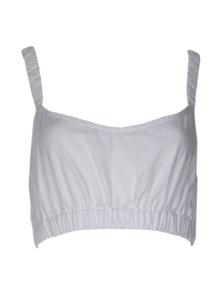 SUNDAYS COTTON CROP TOP - WHITE