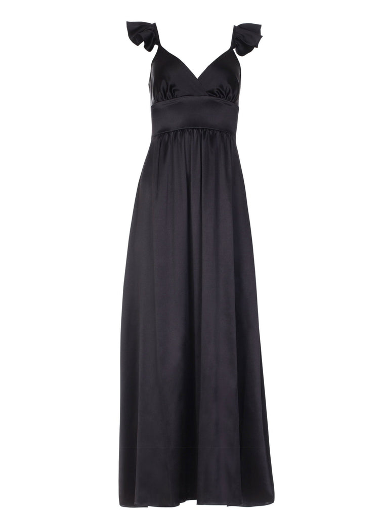 CHLOE SILK DRESS - BLACK